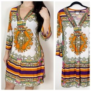 THE PYRAMID COLLECTION Bohemian Resort Dress Med